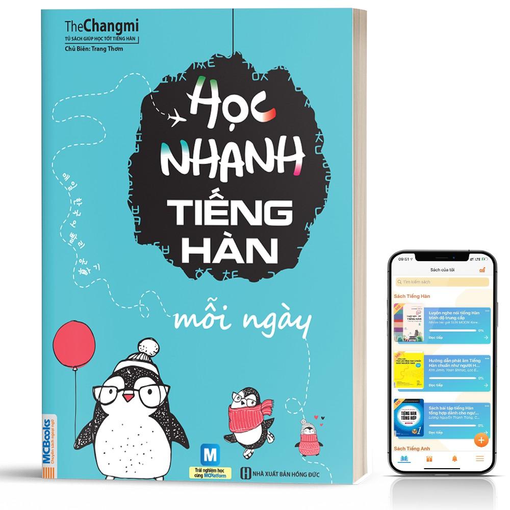 Sách học nhanh tiếng Hàn mỗi ngày