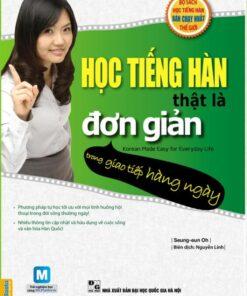 Sách học tiếng Hàn thật là đơn giản trong giao tiếp hàng ngày