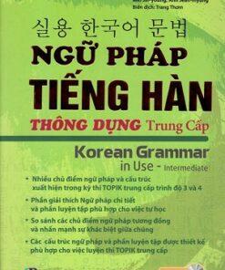 Sách ngữ pháp tiếng Hàn thông dụng - trung cấp