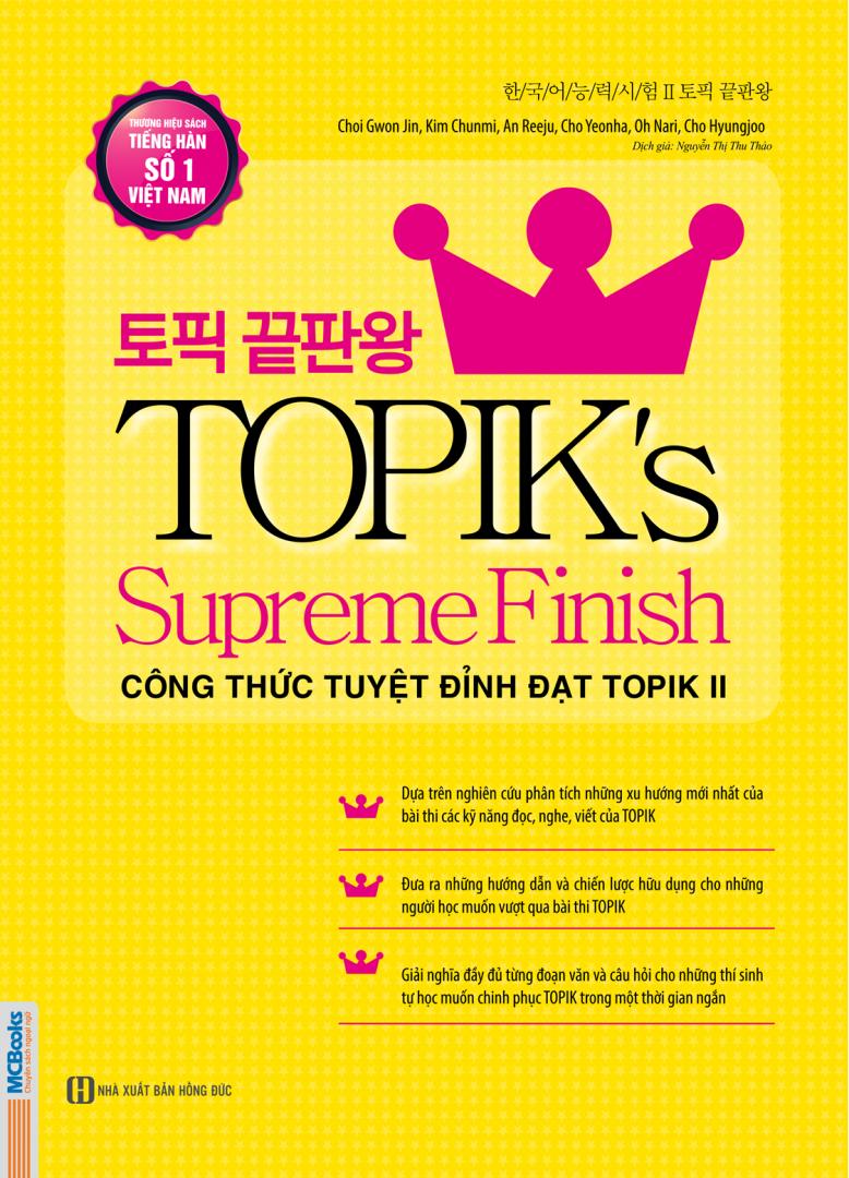 Sách Topik's Supereme Finish Công thức tuyệt đỉnh đạt Topik II