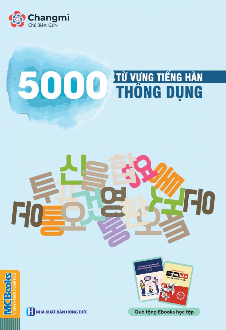 Sách 5000 từ vựng tiếng Hàn thông dụng