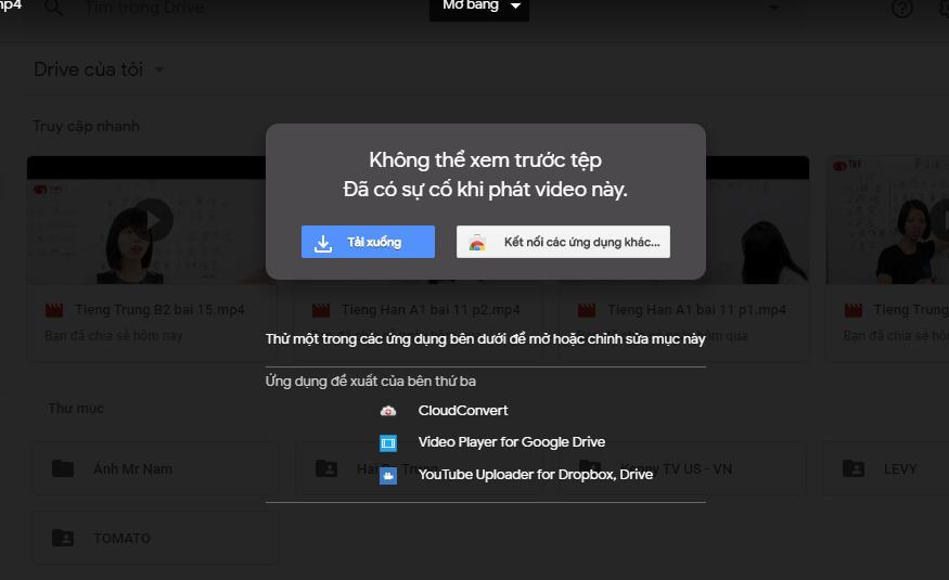 THÔNG BÁO : Lỗi Hệ Thống Preview (Xem video) của Google